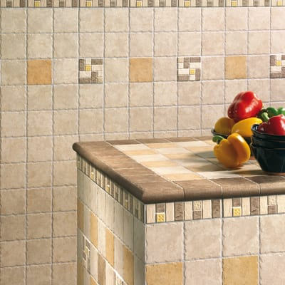 Piastrella per rivestimenti Cuzco Noce 10 x 10 cm sp. 9 mm marrone