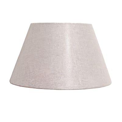 Paralume per lampada da tavolo personalizzabile  Ø 30 cm tortora in teletta