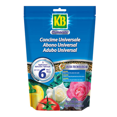 Concime granulare KB OSMOCOTE confezionato in sacchetto (doypack) richiudibile da 750 g
