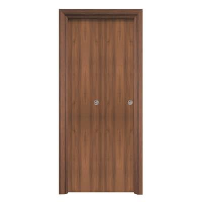 Porta pieghevole Auda noce L 70 x H 210 cm reversibile