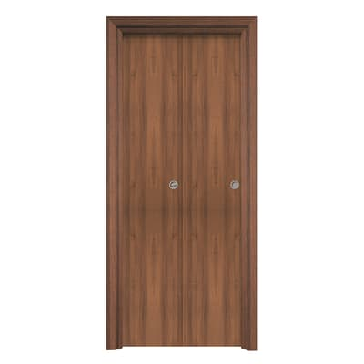 Porta pieghevole Auda noce L 80 x H 210 cm reversibile