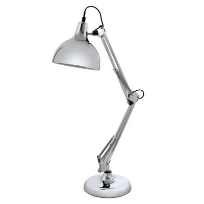 Lampada da scrivania flessibile Borgillio cromo, in acciaio, E27 MAX60W IP20 EGLO