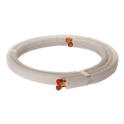 Tubo di rame isolato in kit 1/4 + 3/8 sp. 1 mm 3 m x 300 cm