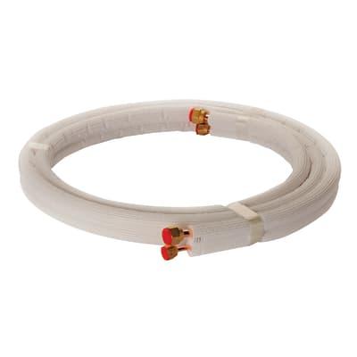 Tubo di rame isolato in kit 1/4 + 3/8 sp. 1 mm 7 m  700 cm