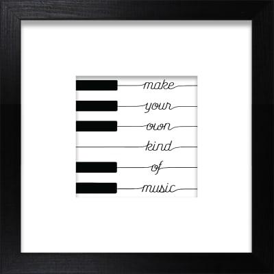 Stampa incorniciata Piano 30x30 cm