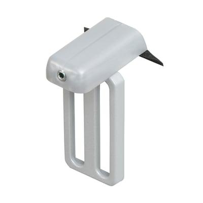 Supporto senza fori U19 grigio in alluminio, 2 pezzi