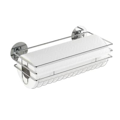 Porta rotolo carta assorbente silicone WENKO Turbo-loc in metallo