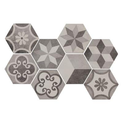 Piastrella Time Hexagone H 21 x L 18.2 cm multicolore