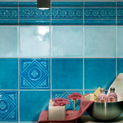Bagni In Ceramica Sarda.Piastrella Sardegna L 20 X H 20 Cm Azzurro Prezzi E Offerte