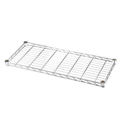 Ripiano in metallo Spaceo Chrome Style+ L 90 x H 4 x P 35 cm grigio cromato