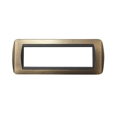 Placca CAL 7 moduli bronzo compatibile con living international