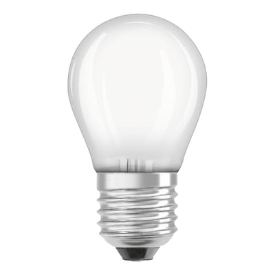 Lampadina LED filamento, E27, Sferico, Smerigliato, Luce calda, 4.0W=470LM (equiv 40 W), 300.0° , OSRAM