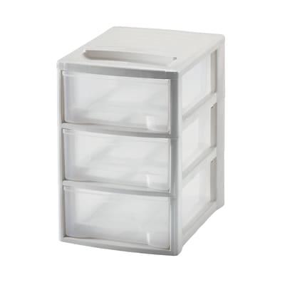 Cassettiera L 19.5 x P 26 x H 28.5 cm bianco