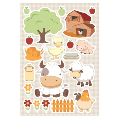 Sticker Baby farm 47.5x70 cm