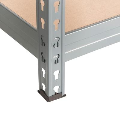 Scaffale in metallo in kit Spaceo L 150 x P 60 x H 190 cm grigio antracite