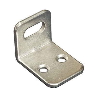 Piastra angolare acciaio nichelato Sp 2 x H 21 mm  4 pezzi