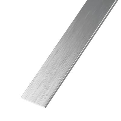 Profilo piatto STANDERS in alluminio 2.6 m x 3 cm argento