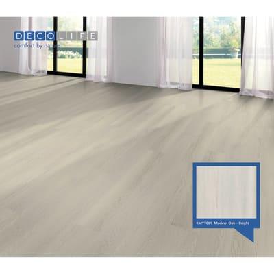 Pavimento SPC flottante clic+ Mode Oakbright Sp 5.2 mm grigio / argento