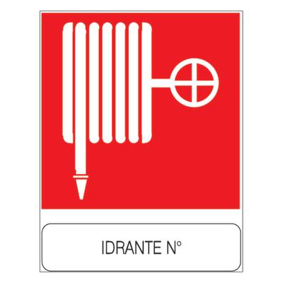 Cartello segnaletico Idrante pvc 23 x 29 cm
