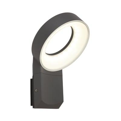 Applique Lima LED integrato in alluminio, grigio, 14W 1100LM IP54 INSPIRE