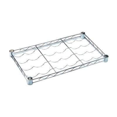 Ripiano in metallo Spaceo Chrome Style+ L 60 x H 4 x P 35 cm grigio cromato