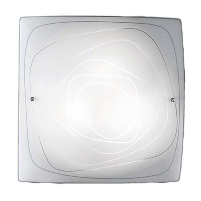 Plafoniera classico Lynn bianco, in vetro, 50x50 cm, 3  luci