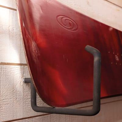 Gancio per garage per legno L 15 x H 15 cm acciaio