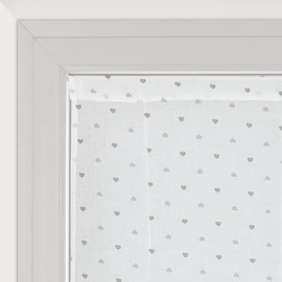 Tendina a vetro regolabile Andorra bianco e beige tunnel 60 x 150 cm