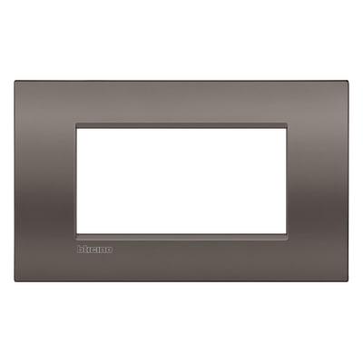 Placca BTICINO Living light 4 moduli marrone