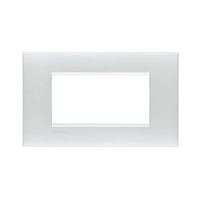 Placca BTICINO Living Light Air 4 moduli bianco perla