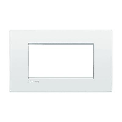Placca BTICINO Living Light Air 4 moduli bianco