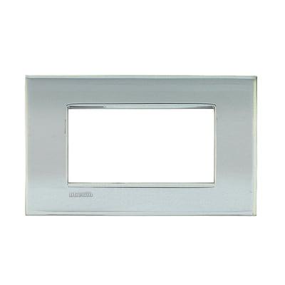 Placca BTICINO Living Light Air 4 moduli palladio