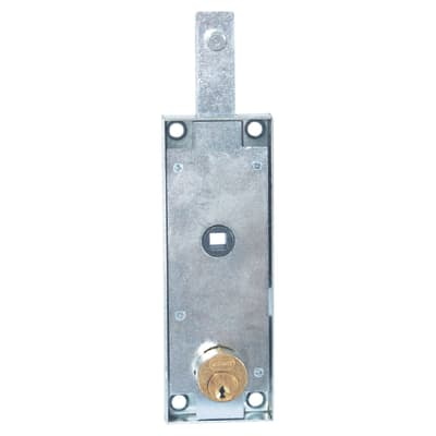 Serratura per porta garage SERRATURA BASCULANTI CILINDRO TONDO L 190 x H  710 mm interasse 150 mm