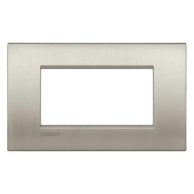 Placca BTICINO Living light 4 moduli titanio