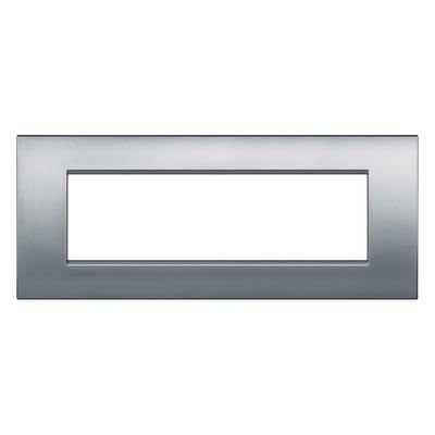 Placca BTICINO Living Light Air 7 moduli cromo