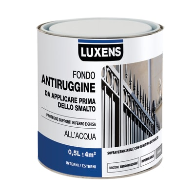 Primer LUXENS base acqua interno / esterno antiruggine 0.5 L
