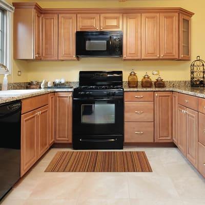 Tappeto Cucina antiscivolo Deco stripes arancione 180x53 cm ...