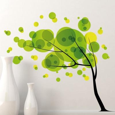Sticker Sticker Words Up XXL Tree in the wind 67x94 cm