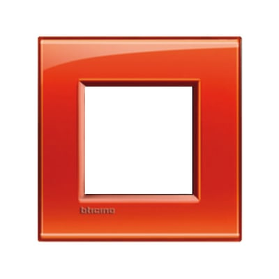 Placca BTICINO Living light 2 moduli arancio opaco