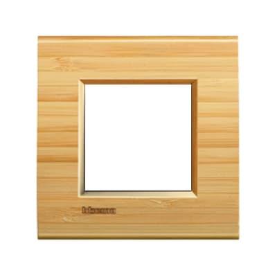 Placca BTICINO Living light 2 moduli bambù opaco