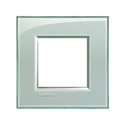 Placca BTICINO Living light 2 moduli grigio ghiaccio