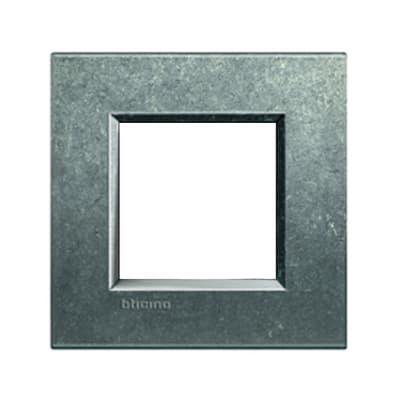 Placca BTICINO Living light 2 moduli native opaco
