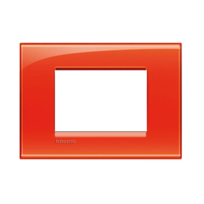 Placca BTICINO Living light 3 moduli arancio