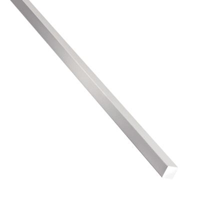 Profilo quadrati pieni STANDERS in alluminio 1 m x 1.2 cm naturale