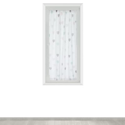 Tendina vetro Nina bianco tunnel 100x150 cm