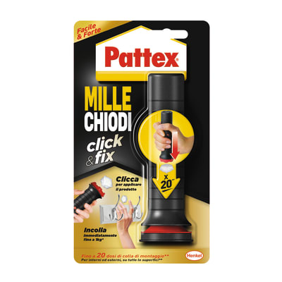 Colla di montaggio Millechiodi Click&Fix PATTEX bianco 30g