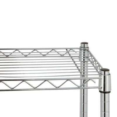 Scaffale in metallo Spaceo Chrome Style+ L 60 x P 35 x H 90 cm