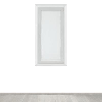 Tendina vetro Siria bianco tunnel 45x150 cm