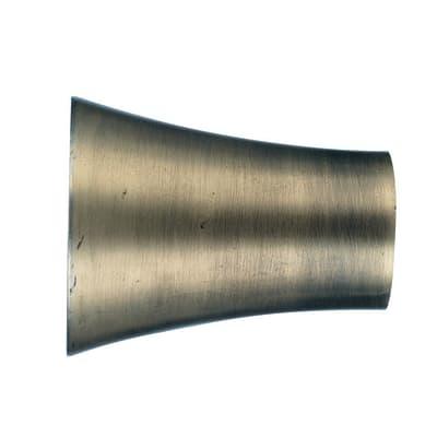 Finale per bastone Ø20mm Bran cono in alluminio dorato patinato INSPIRE Set di 2 pezzi