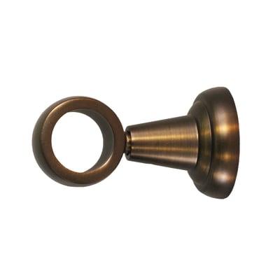 Supporto singolo chiuso Ø25mm Tago in metallo bronzo naturale6 cm